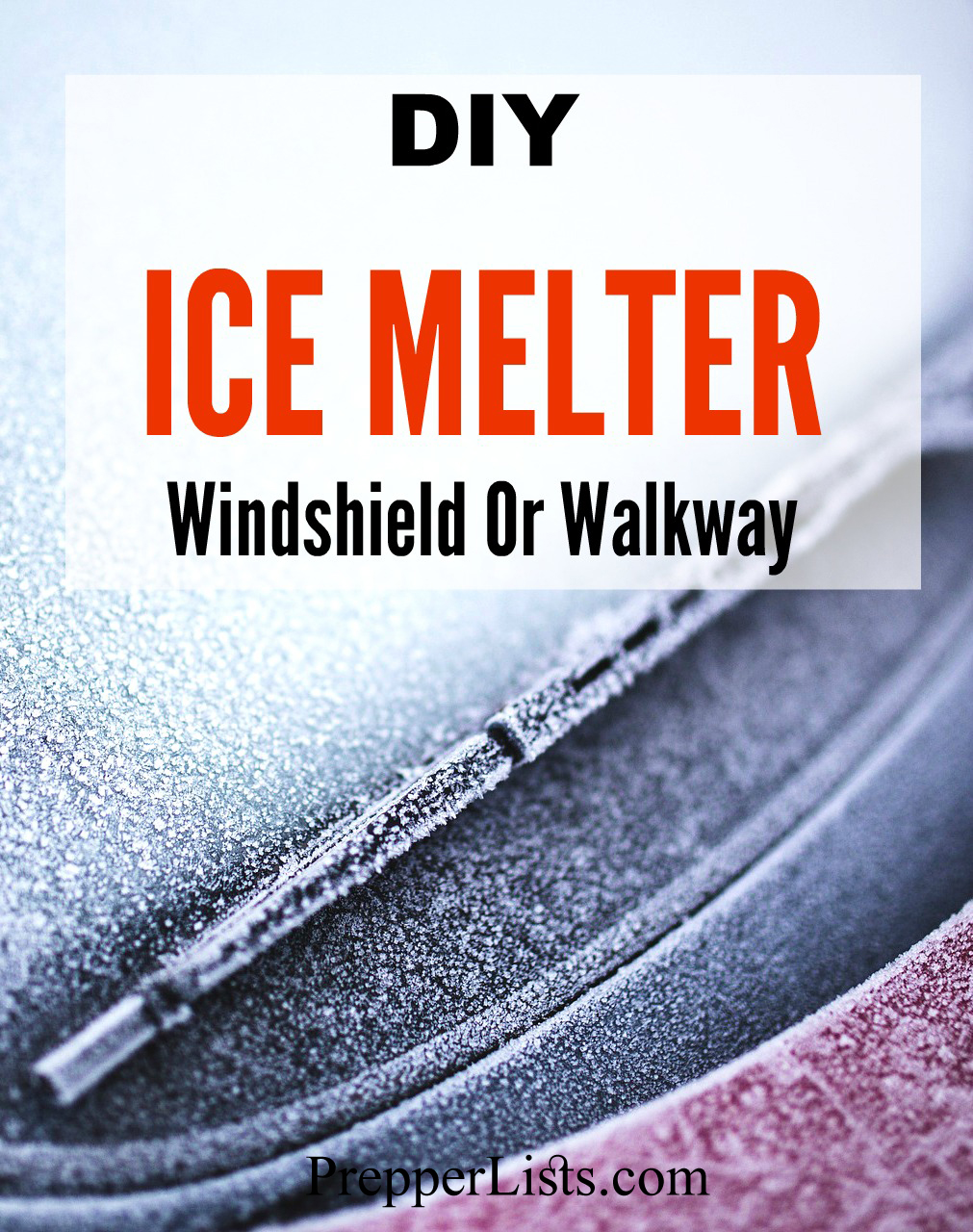 DIY Ice Melter For Your Windshield Or Walkway